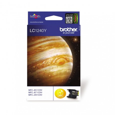 Brother LC1240Y yellow ink cartridge (LC1240Y)