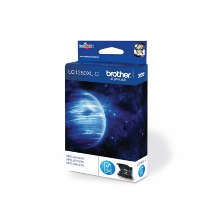 Brother LC1280XL-C hogher capacity cyan ink cartridge