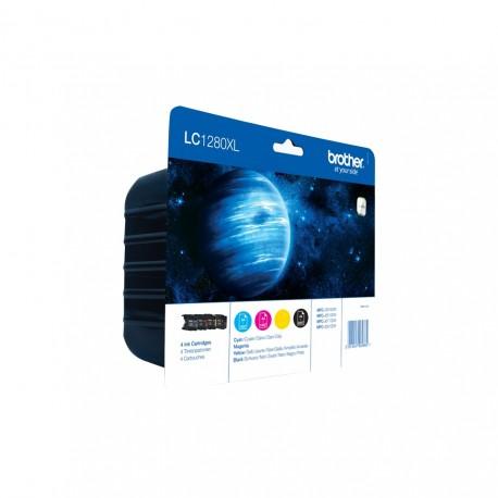 Brother LC-1280XLBk/C/M/Y rašalo kasečių komplektas (LC1280XLBk/C/M/Y)