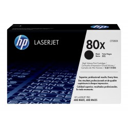 HP 80X larger capacity black toner cartridge (CF280X)