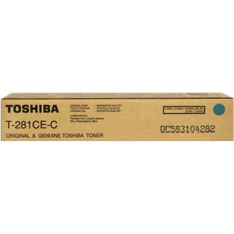 Toshiba T-281-CEC žydra tonerio kasetė (T281CEC)