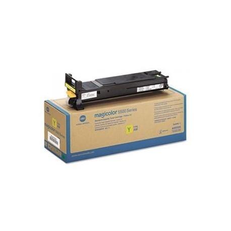 Minolta Magicolor 5500 yellow toner cartridge (MC5500/A06V252)