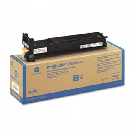 Minolta Magicolor 5500 higher capacity cyan toner cartridge