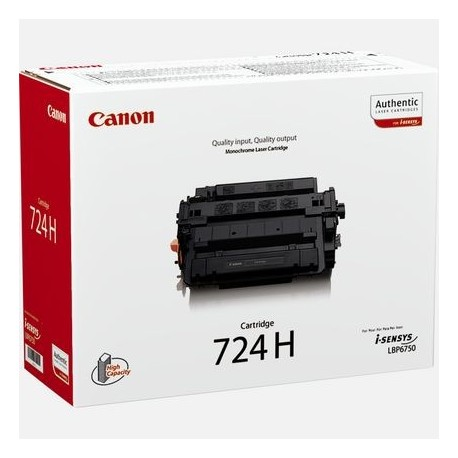 Canon Cartridge 724H hogher capacoty black toner cartridge