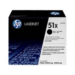 HP 51X juoda didesnės talpos tonerio kasetė (Q7551X)