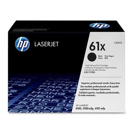 HP 61X higher capacity black toner cartridge (C8061X)