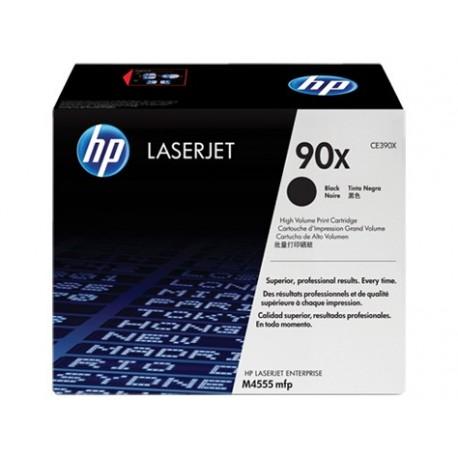 HP 90X larger capacity black toner cartridge (CE390X)