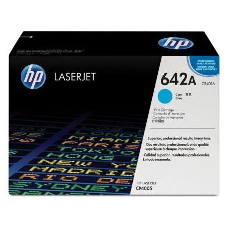 HP 642A cyan toner cartridge (CB401A)
