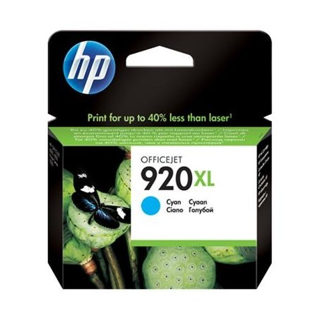 HP 920XL higher capacity cyan ink cartridge (CD972AE/Nr.920XL)