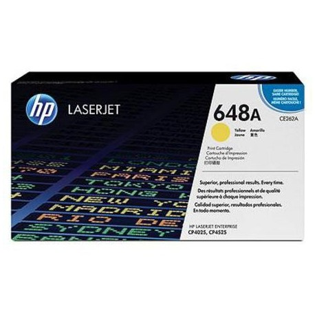 HP 648A yellow toner cartridge (CE262A)