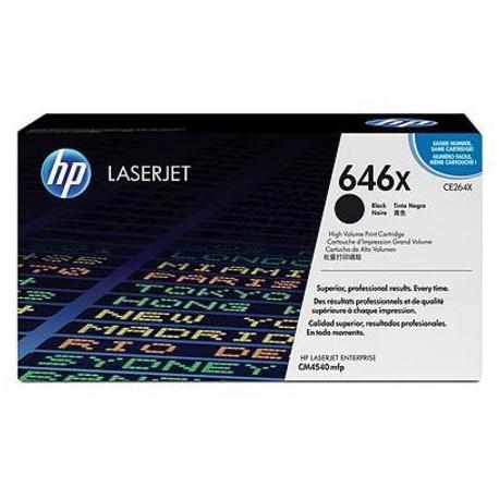 HP 646X higher capacity black toner cartridge (CE264X)
