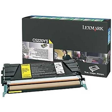 Lexmark C5220YS yellow toner cartridge (C5220YS)
