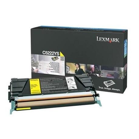 Lexmark C5222YS yellow toner cartridge (C5222YS)
